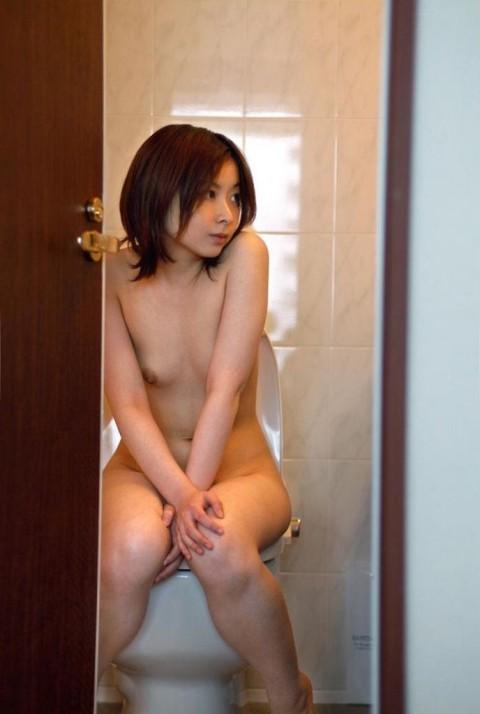 【画像あり】便座に全裸で座って○○○してる女の子を視姦したったwwwwwwwwww(22枚)・10枚目