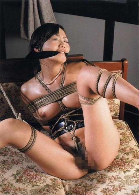 【SM】マ○コに食い込んでる縄をクイックイしてみたい緊縛画像(画像24枚)・19枚目