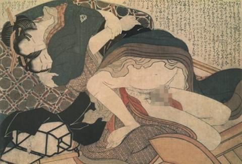 【画像】江戸時代のエロ本(春画)巨根すぎワロタwwwwwwwwwwwwwwww(28枚)・22枚目