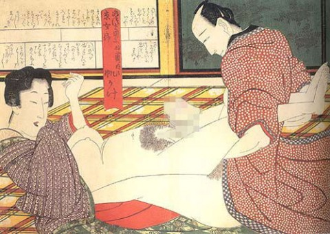 【画像】江戸時代のエロ本(春画)巨根すぎワロタwwwwwwwwwwwwwwww(28枚)・26枚目