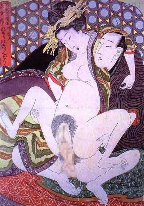 【画像】江戸時代のエロ本(春画)巨根すぎワロタwwwwwwwwwwwwwwww(28枚)・5枚目
