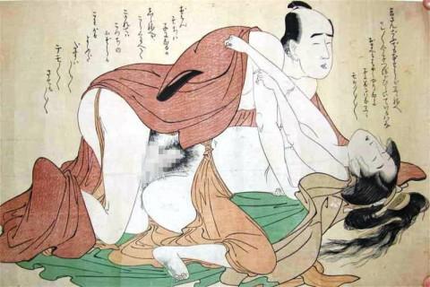【画像】江戸時代のエロ本(春画)巨根すぎワロタwwwwwwwwwwwwwwww(28枚)・8枚目