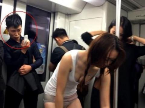 【衝撃画像】公共の場で堂々と着替える若い女たちを激写せよ!!!!!いくらなんでもこれは・・・。(20枚)・1枚目