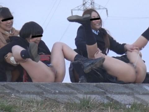 【※余計なお世話】野ション中の女の子をお手伝いするの楽し過ぎwwwwwwwwwwwwwww(GIF画像あり)・1枚目