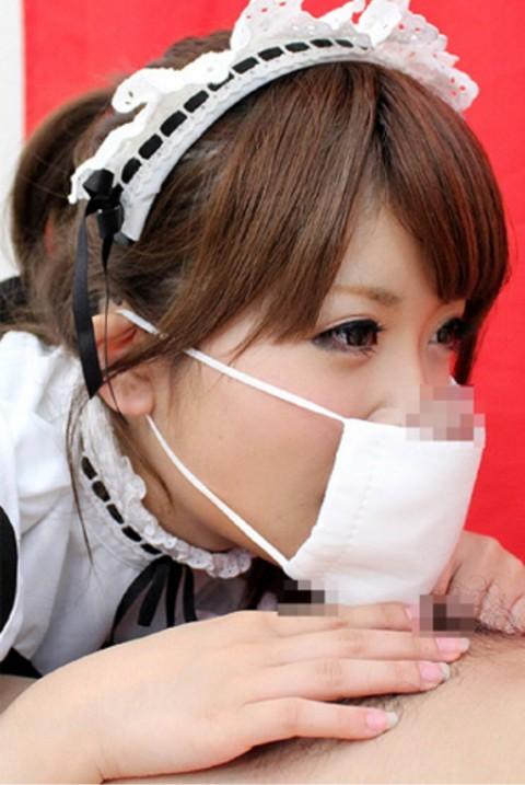 【草不可避】マスク着用で顔出しNGな女の子にフェラしてもらった結果wwwwwwwwwwwwwwww・27枚目