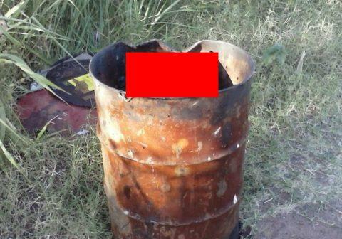 (※閲覧注意)いつも道端にあったドラム缶にある日捨てられてたモノ。(8枚)