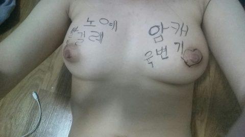 【韓国】ハングルで書かれた女体落書きエロ画像wwwwwwwww全く読めん・・・(26枚)・20枚目