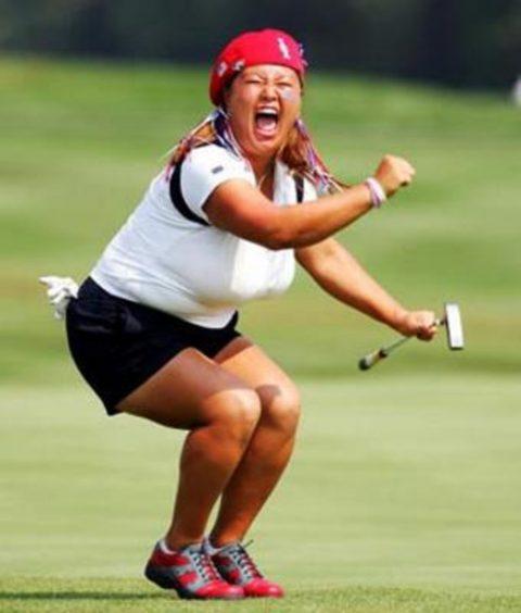 ついオッパイに目がいってしまう巨乳ゴルファーの画像集(24枚)・7枚目