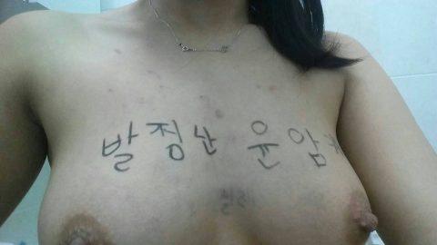 【韓国】ハングルで書かれた女体落書きエロ画像wwwwwwwww全く読めん・・・(26枚)・24枚目