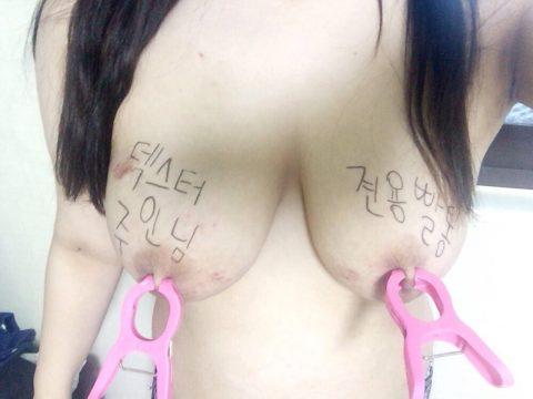 【韓国】ハングルで書かれた女体落書きエロ画像wwwwwwwww全く読めん・・・(26枚)・25枚目