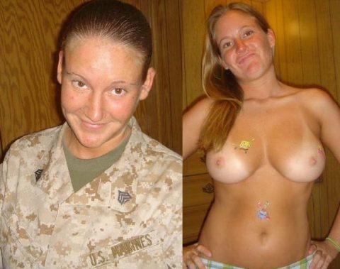 欲求不満な女兵士の軍服とヌードのコラボ画像集(29枚)・2枚目