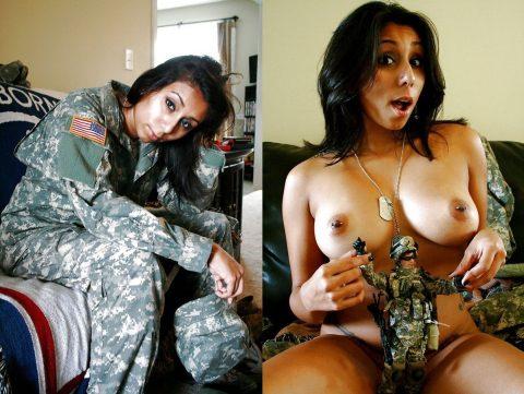 欲求不満な女兵士の軍服とヌードのコラボ画像集(29枚)・8枚目