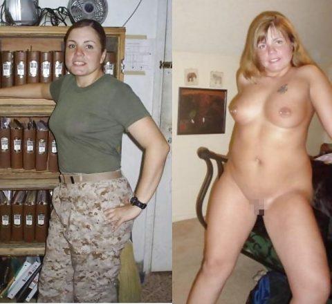 欲求不満な女兵士の軍服とヌードのコラボ画像集(29枚)・11枚目