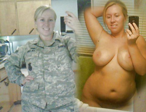 欲求不満な女兵士の軍服とヌードのコラボ画像集(29枚)・12枚目