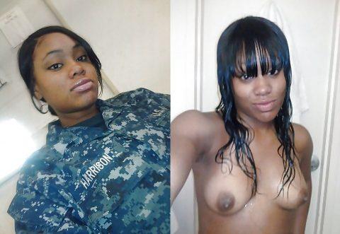 欲求不満な女兵士の軍服とヌードのコラボ画像集(29枚)・14枚目