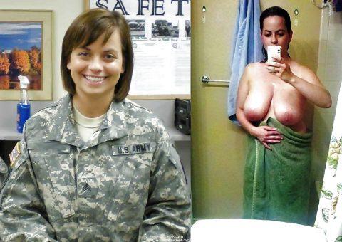 欲求不満な女兵士の軍服とヌードのコラボ画像集(29枚)・18枚目