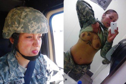 欲求不満な女兵士の軍服とヌードのコラボ画像集(29枚)・19枚目