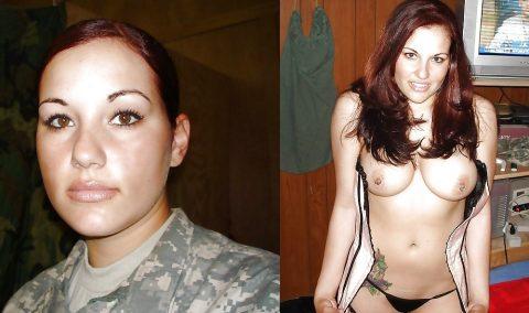 欲求不満な女兵士の軍服とヌードのコラボ画像集(29枚)・21枚目