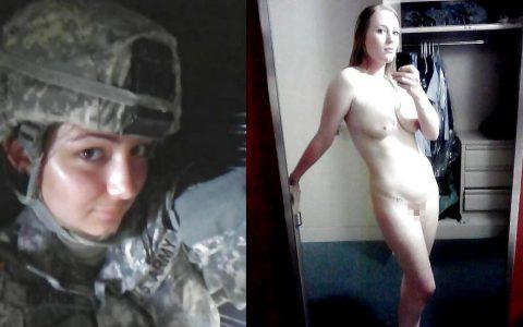 欲求不満な女兵士の軍服とヌードのコラボ画像集(29枚)・26枚目