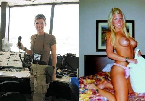 欲求不満な女兵士の軍服とヌードのコラボ画像集(29枚)・27枚目