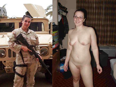 欲求不満な女兵士の軍服とヌードのコラボ画像集(29枚)・29枚目