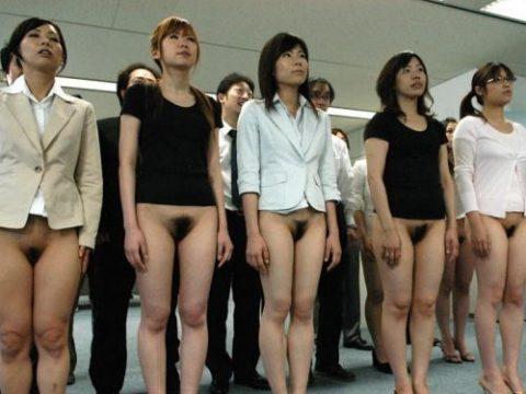【画像あり】女子社員を並べて陰毛チェックしてみた結果wwwwwwwwwwwwwwww・1枚目