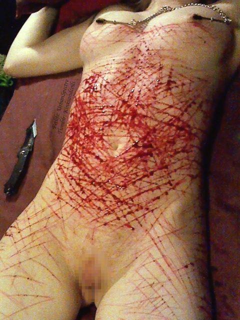 【閲覧注意】血が苦手な人は見てはいけない調教エロ画像集(25枚)・21枚目
