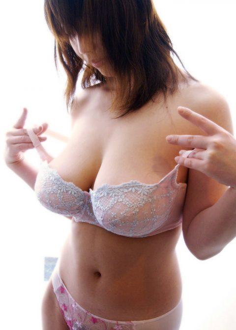 巨乳女はブラに包まれた状態が一番ワクテカする件(画像30枚)・23枚目