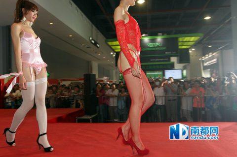 【驚愕】中国の下着ファッションショー、意図的にハミマンしてるとしか・・・(画像24枚)・5枚目