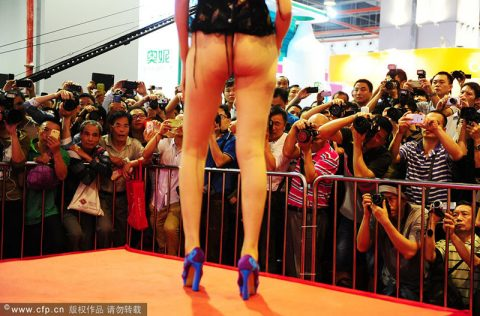 【驚愕】中国の下着ファッションショー、意図的にハミマンしてるとしか・・・(画像24枚)・9枚目