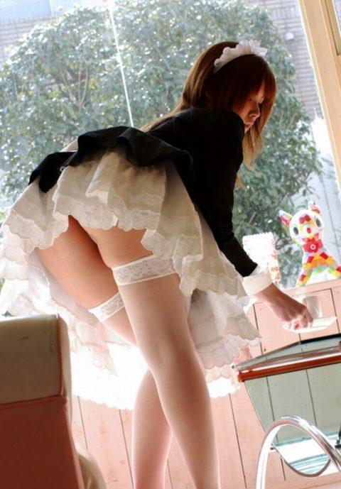 【欲情不可避】メイド服着た女の子の一番エロいアングルがこちらwwwwwwwwwwwww(24枚)・9枚目