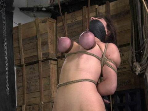 【残酷過ぎ】乳だけで女を吊ってみた結果wwwwwwwwwwwwwwwwww(画像24枚)・1枚目
