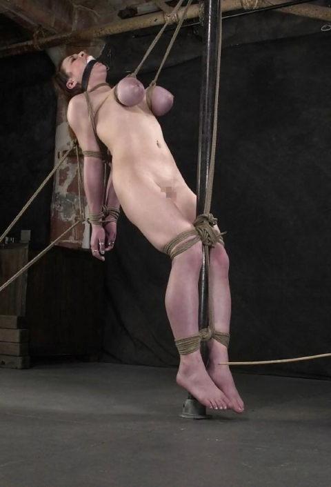 【残酷過ぎ】乳だけで女を吊ってみた結果wwwwwwwwwwwwwwwwww(画像24枚)・15枚目