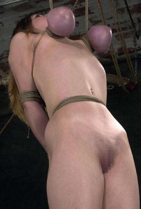 【残酷過ぎ】乳だけで女を吊ってみた結果wwwwwwwwwwwwwwwwww(画像24枚)・20枚目