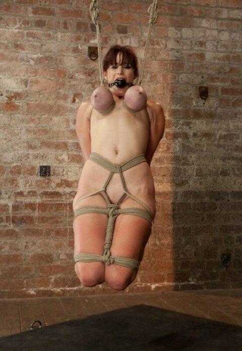 【残酷過ぎ】乳だけで女を吊ってみた結果wwwwwwwwwwwwwwwwww(画像24枚)・9枚目