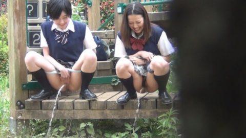 【野外放尿】JKのストレス発散方法がこちらwwwwwwwwwww(画像30枚)・9枚目