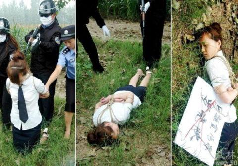 (※閲覧注意)田舎チャイナの女死刑囚の死刑執行の様子がコチラ、、、スーパー雑杉泣いた。。。(写真あり)