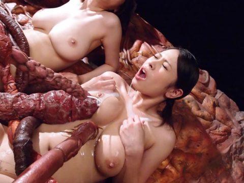 二次と三次が見事に手を繋いだ触手に犯される女のエロ画像集(30枚)・3枚目