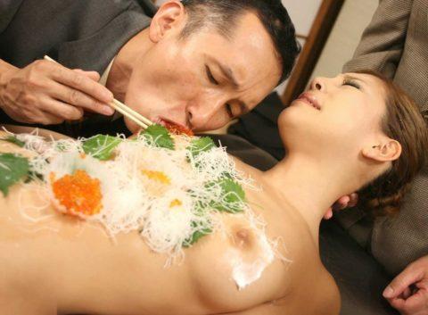バブルの匂いがプンプンする女体盛りのエロ画像集(30枚)・26枚目