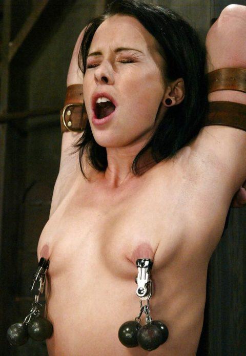 これマジで痛いだろ・・・乳首を虐めてる調教中の画像集(30枚)・29枚目