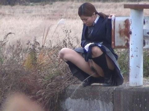【画像あり】通学途中に野ションしてるJKが発見されるwwwwwwwwwwww・1枚目