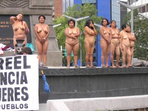 【分かったからやめてくれ‥】ある意味効き目がある全裸抗議がこちら・・・(画像28枚)・12枚目