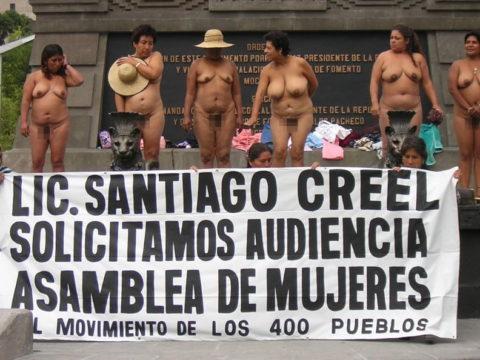【分かったからやめてくれ‥】ある意味効き目がある全裸抗議がこちら・・・(画像28枚)・14枚目