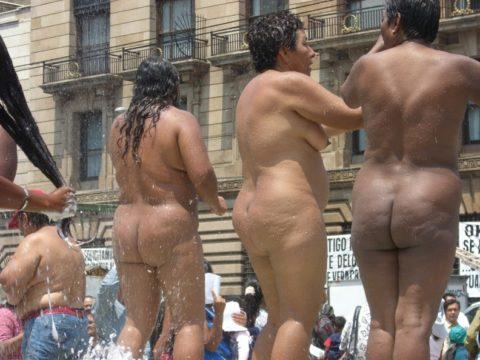 【分かったからやめてくれ‥】ある意味効き目がある全裸抗議がこちら・・・(画像28枚)・20枚目