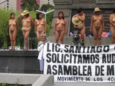 【分かったからやめてくれ‥】ある意味効き目がある全裸抗議がこちら・・・(画像28枚)・26枚目