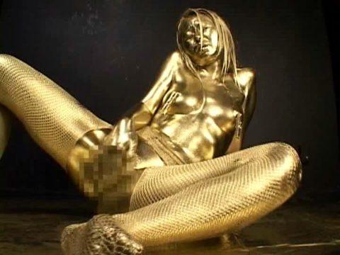 セックスするとご利益がある(?)全身金粉女のエロ画像集(30枚)・30枚目