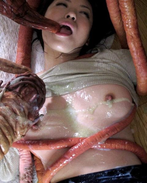 【実写版】これぞ日本のAVの真骨頂wwwwww触手に犯される女たち(画像30枚)・6枚目