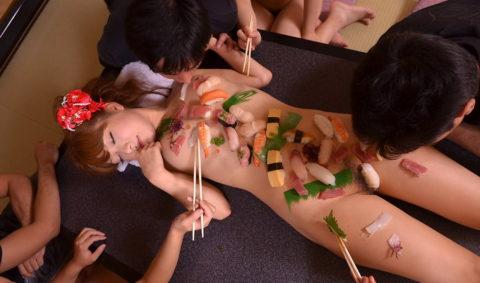 世界が驚く(呆れる?)日本が誇る「女体盛り」とかいうエロ文化(画像30枚)・1枚目