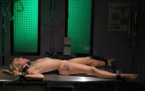 【SM】全裸で大の字に拘束された無防備状態の女たち(画像25枚)・10枚目