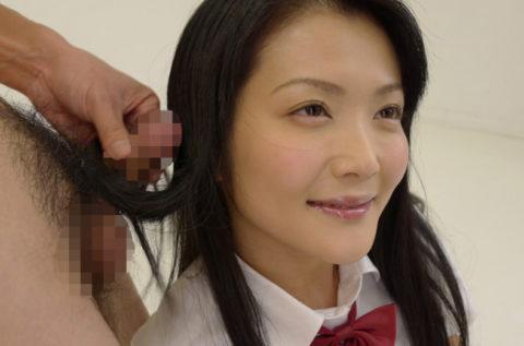 女の命・美しい黒髪を汚す「髪コキ」エロ画像集(27枚)・9枚目